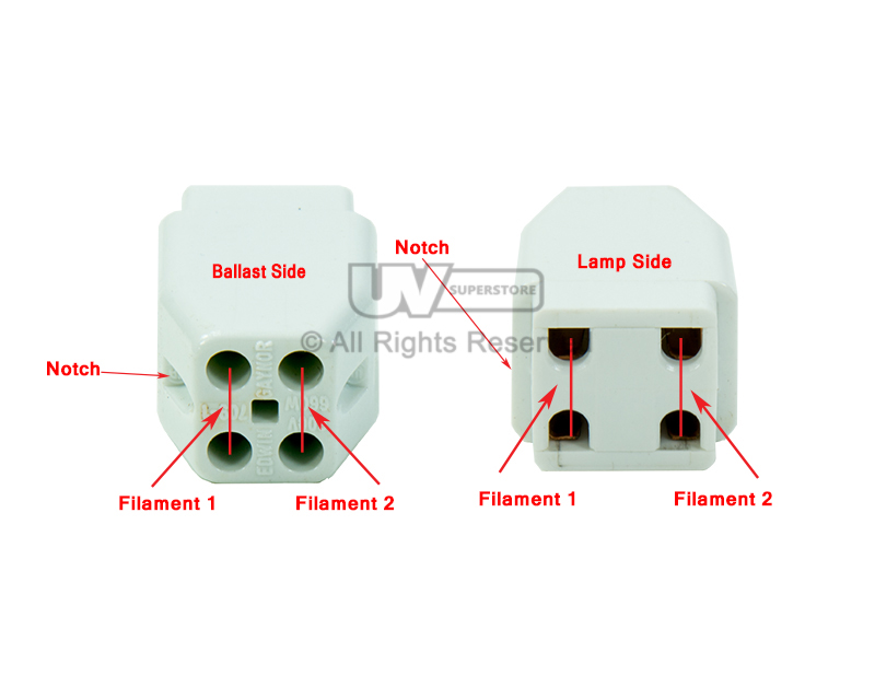 Conn0015 Replacement Uv Lamp Connector 4 Pin